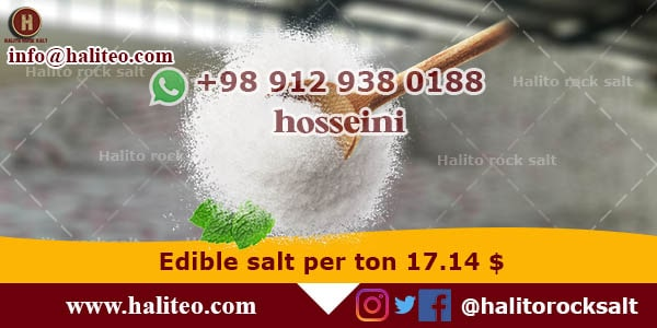 Production of edible salt