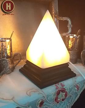 rock salt lamp decor