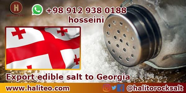 Export edible salt to Georgia